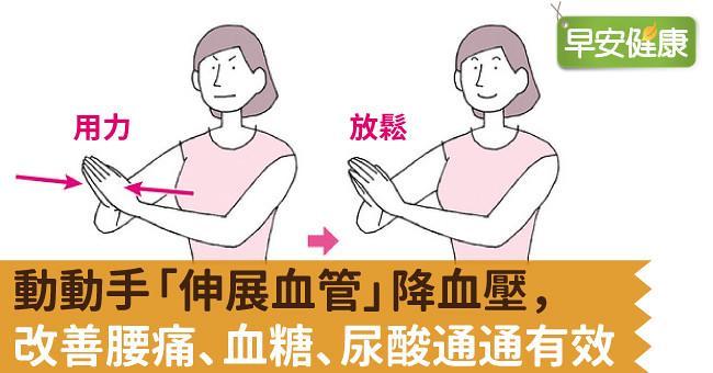 動動手「伸展血管」降血壓,改善腰痛、血糖、尿酸通通有效