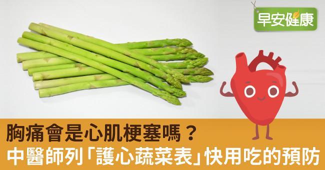 胸痛會是心肌梗塞嗎?中醫師列「護心蔬菜表」快用吃的預防