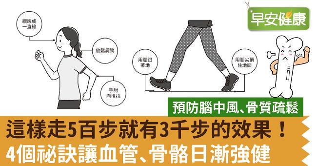這樣走5百步就有3千步的效果!4個祕訣讓血管、骨骼日漸強健