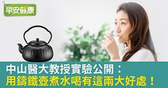 中山醫大教授實驗公開:用鑄鐵壺煮水喝有這兩大好處!