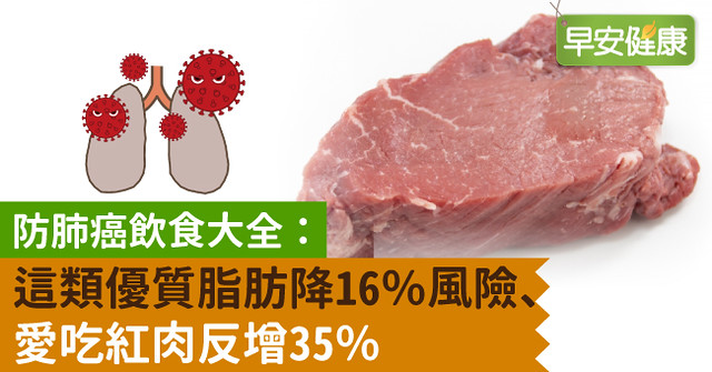 防肺癌飲食大全:這類優質脂肪降16%風險、愛吃紅肉反增35%
