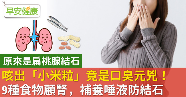 咳出「小米粒」竟是口臭元兇!9種食物顧腎,補養唾液防結石