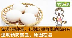 每週4顆雞蛋,代謝症候群風險降54%!還助預防貧血,原因在這