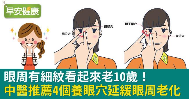 眼周有細紋看起來老10歲!中醫推薦4個養眼穴延緩眼周老化