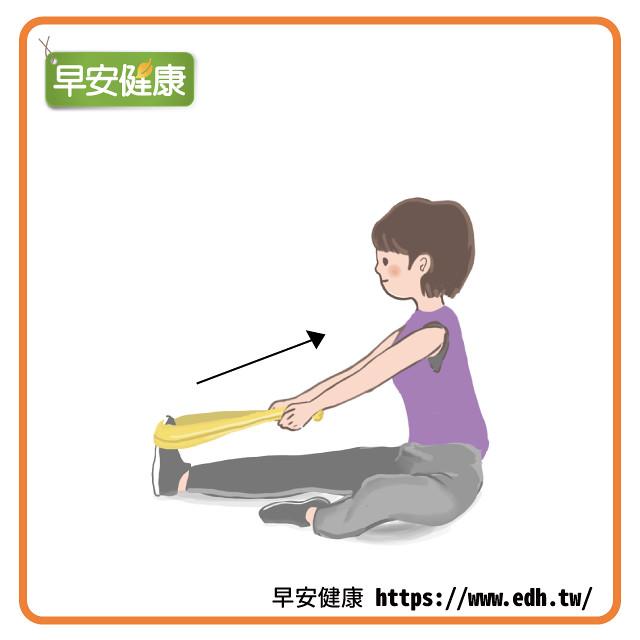 預防足底筋膜炎:拉毛巾伸展