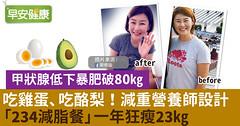 吃雞蛋、吃酪梨!減重營養師設計「234減脂餐」一年狂瘦23kg