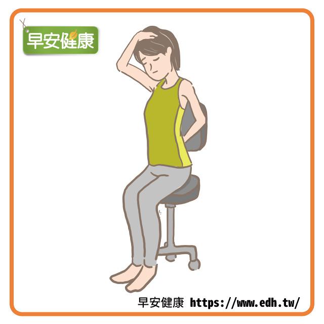 辦公室也能做的肩頸伸展:手向旁邊扳頭