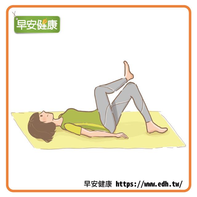 躺地抬膝蓋鍛鍊髖關節
