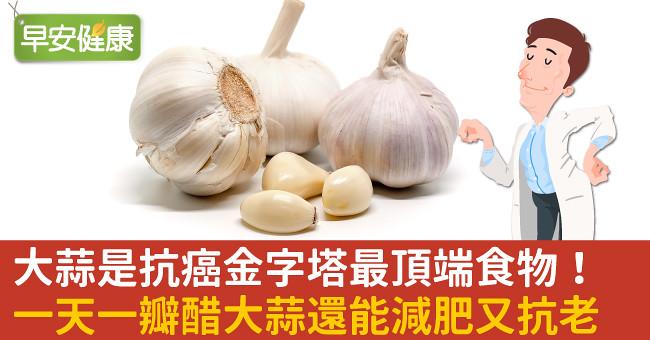 大蒜是抗癌金字塔最頂端食物!一天一瓣醋大蒜還能減肥又抗老