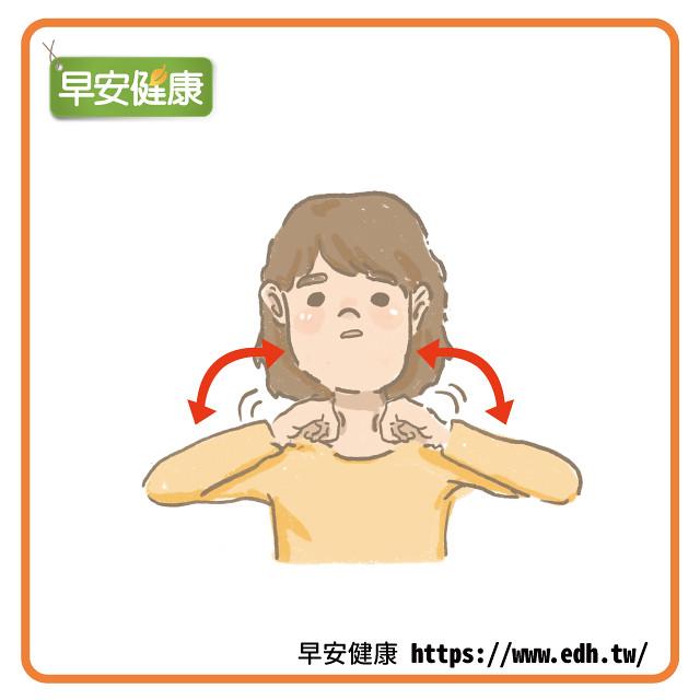 按摩斜角肌防止顎關節疼痛
