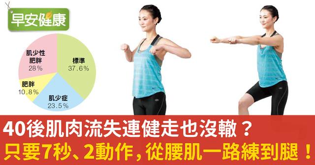 40後肌肉流失連健走也沒轍?只要7秒、2動作,從腰肌一路練到腿!