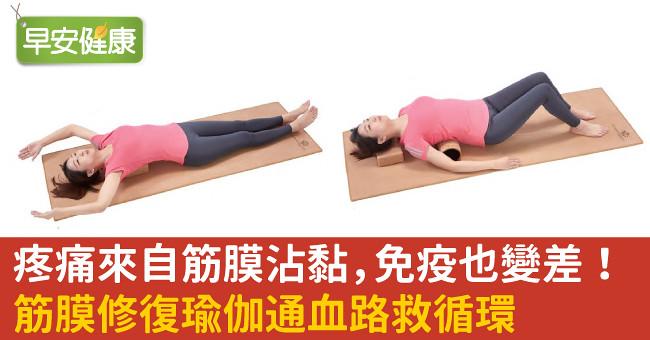 疼痛來自筋膜沾黏,免疫也變差!筋膜修復瑜伽通血路救循環