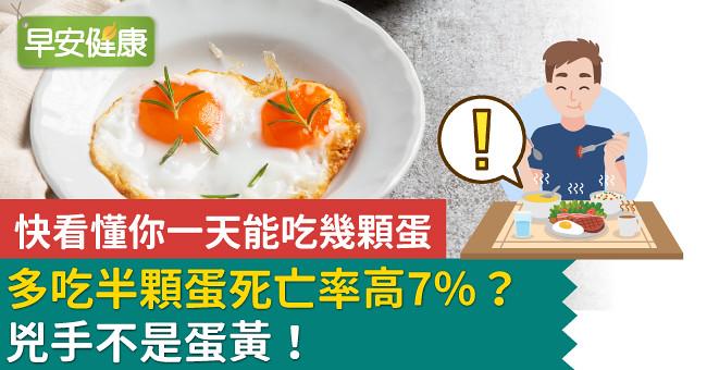 多吃半顆蛋死亡率高7%?兇手不是蛋黃!快看懂你一天能吃幾顆蛋