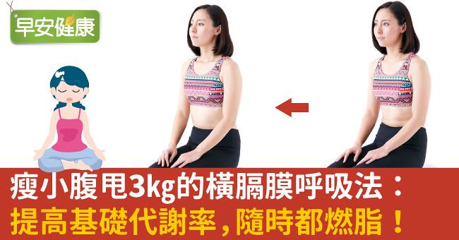 瘦小腹甩3kg的橫膈膜呼吸法:提高基礎代謝率,隨時都燃脂!