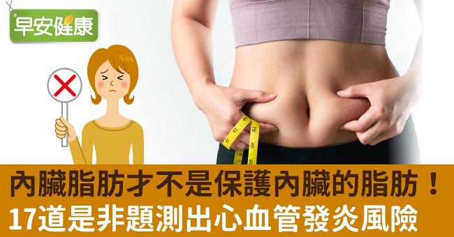 內臟脂肪才不是保護內臟的脂肪!17道是非題測出心血管發炎風險
