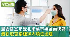 北農群聚,農委會宣布雙北果菜市場全面快篩!最新疫苗接種10大順位出爐