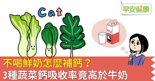 不喝鮮奶怎麼補鈣?3種蔬菜鈣吸收率竟高於牛奶