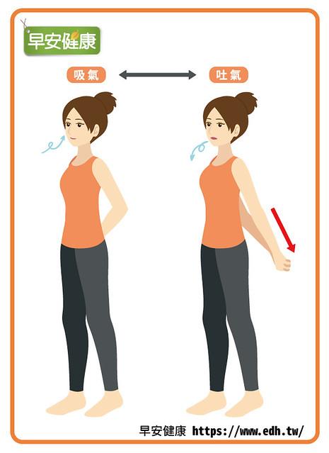 放鬆呼吸肌:伸展吐氣肌