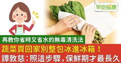 蔬菜買回家別整包冰進冰箱!譚敦慈:照這步驟,保鮮期才最長久