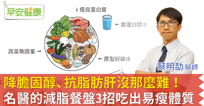 降膽固醇、抗脂肪肝沒那麼難!名醫的減脂餐盤3招吃出易瘦體質