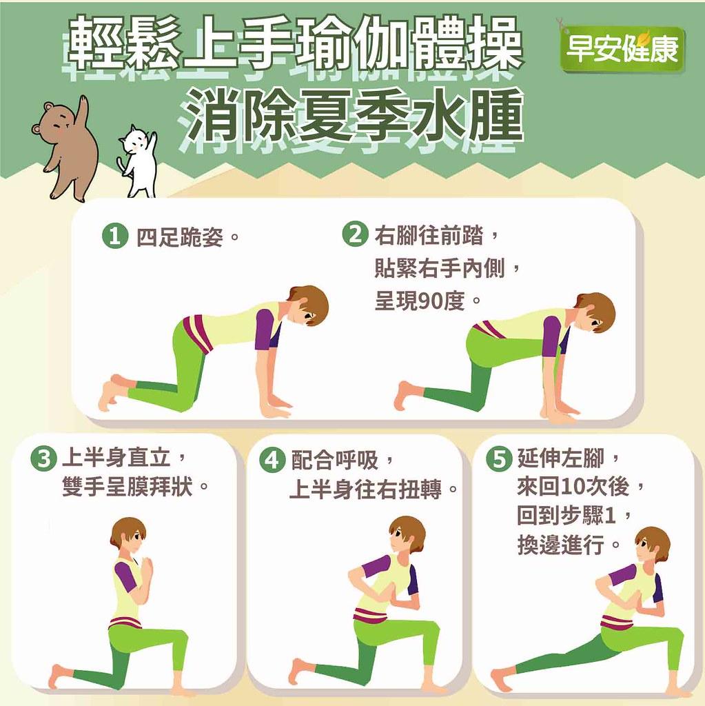 好上手又有感的的瑜伽動作,扭扭身體消除夏季水腫!