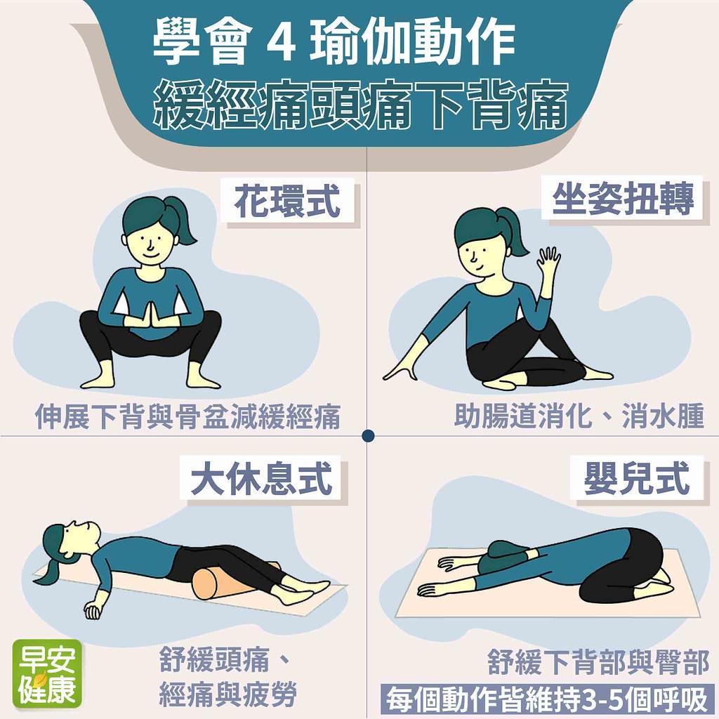 對付經痛、頭痛、下背痛!4組瑜伽動作溫和緩解疼痛