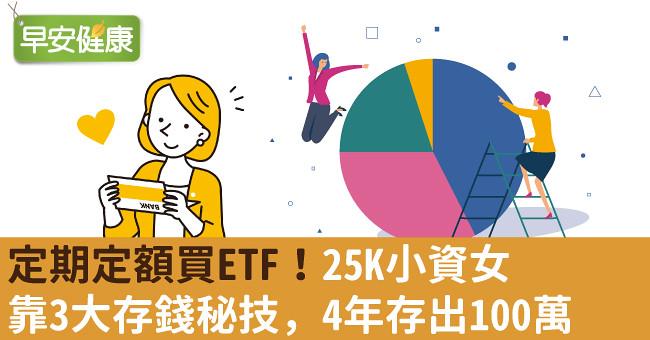 定期定額買ETF!25K小資女靠3大存錢秘技,4年存出100萬