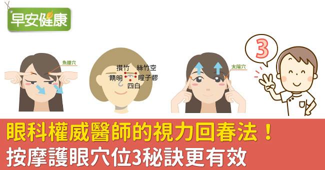 眼科權威醫師的視力回春法!按摩護眼穴位3秘訣更有效